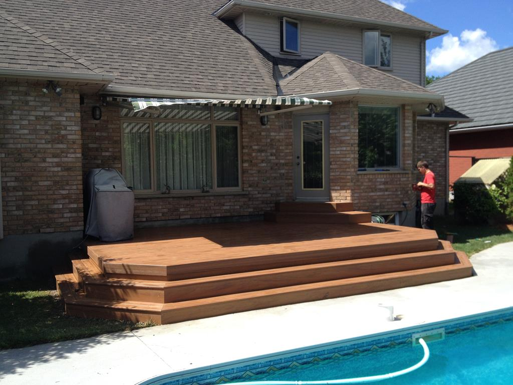 new residential deck to pool area.
